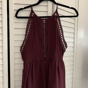 Tobi Backless Maroon Halter Dress